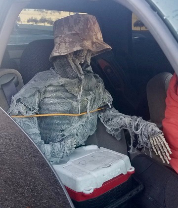 Skeleton crew (picture from Arizona Department of Public Safety)
