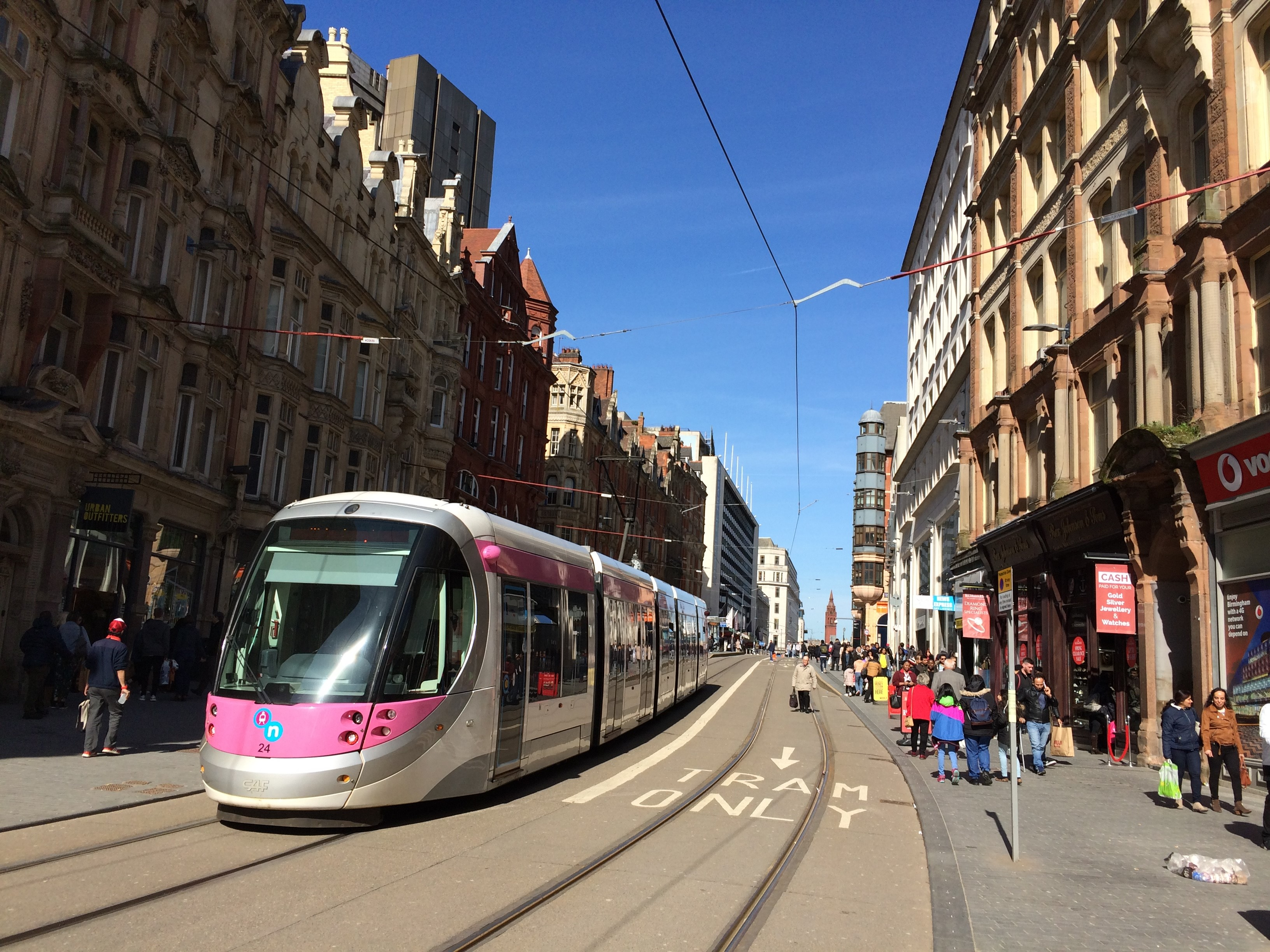 Trams are already in operation in Birmingham city centre