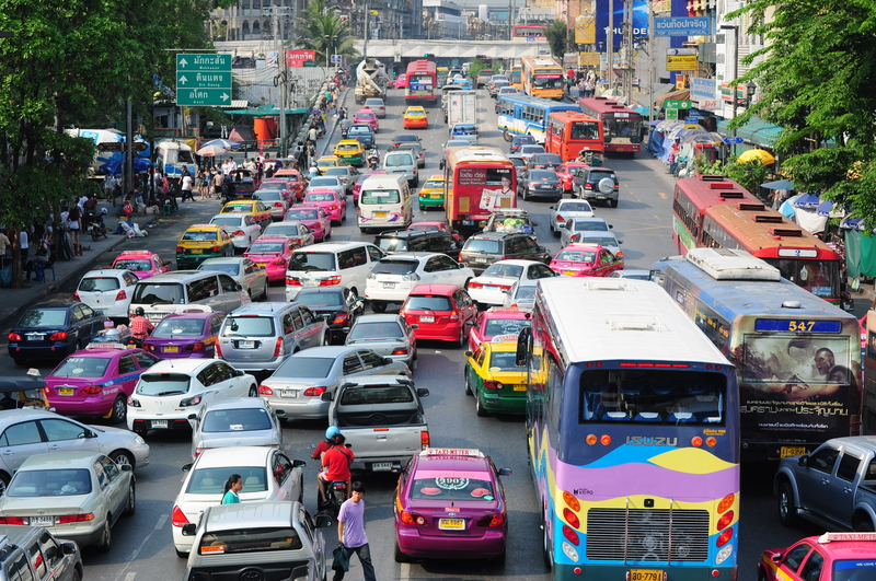 Traffic congestion in downtown, Bangkok, Thailand (source:ID 13572763 © Roman Knertser | Dreamstime.com)