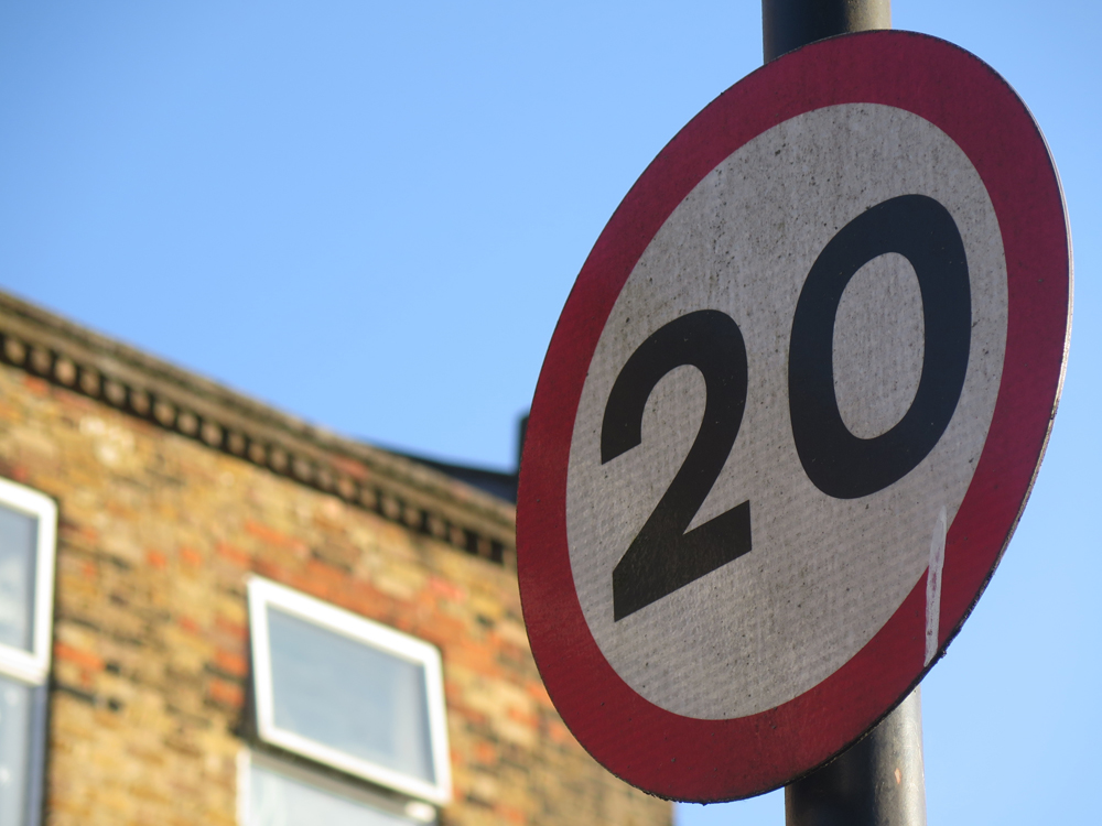 20mph speed sign