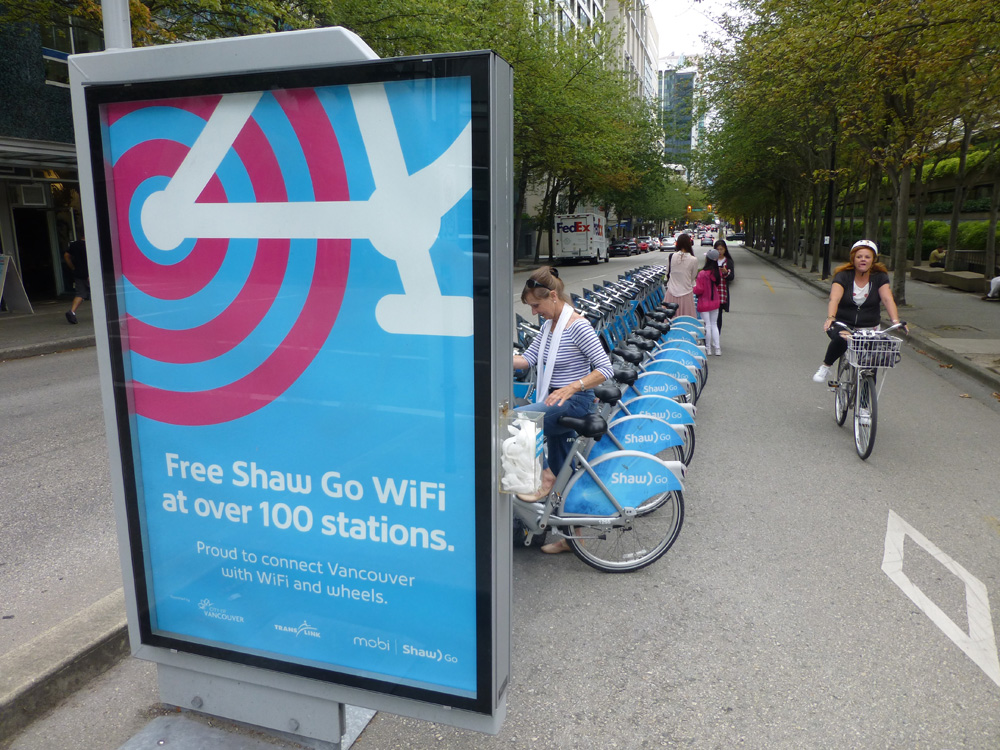 Vancouver, Canada: no e-scooters yet, but a major bike-share scheme run in partnership with Mobi © David Arminas