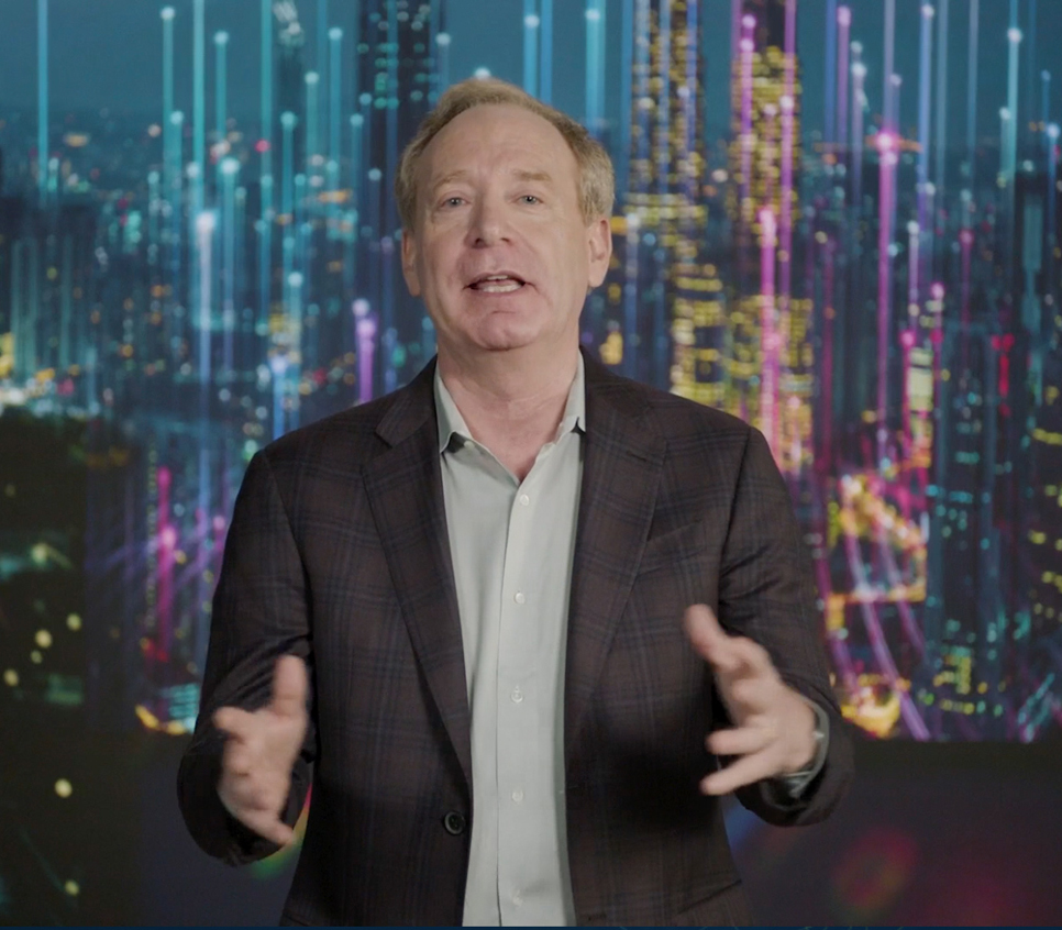 Microsoft president Brad Smith spoke about cybersecurity and customer privacy protection © CES 2021