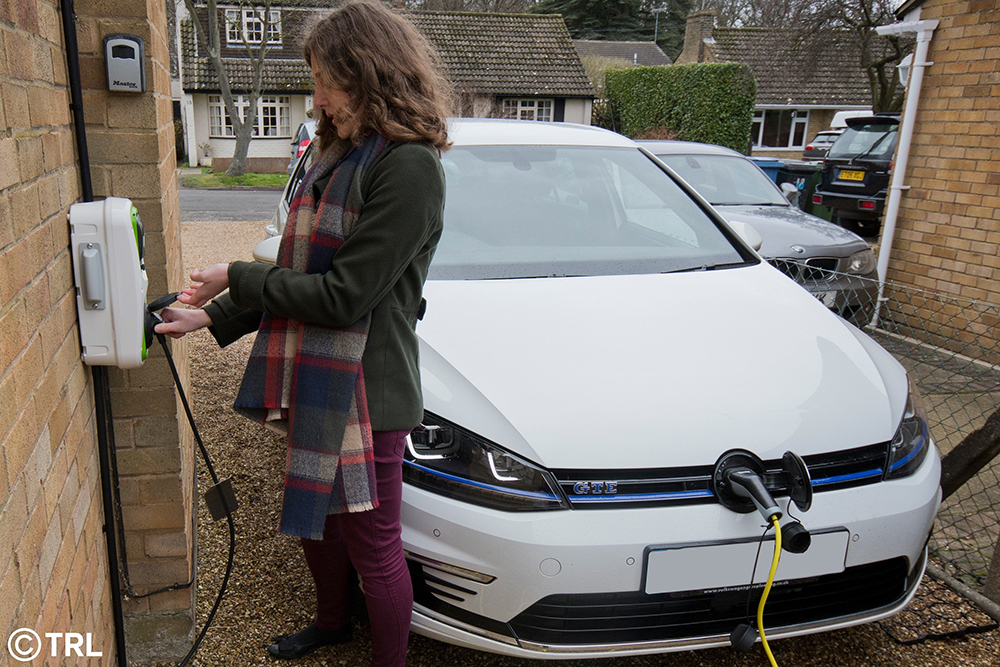 Points earned from home charging could be converted to money at the end of the TRL trial © TRL