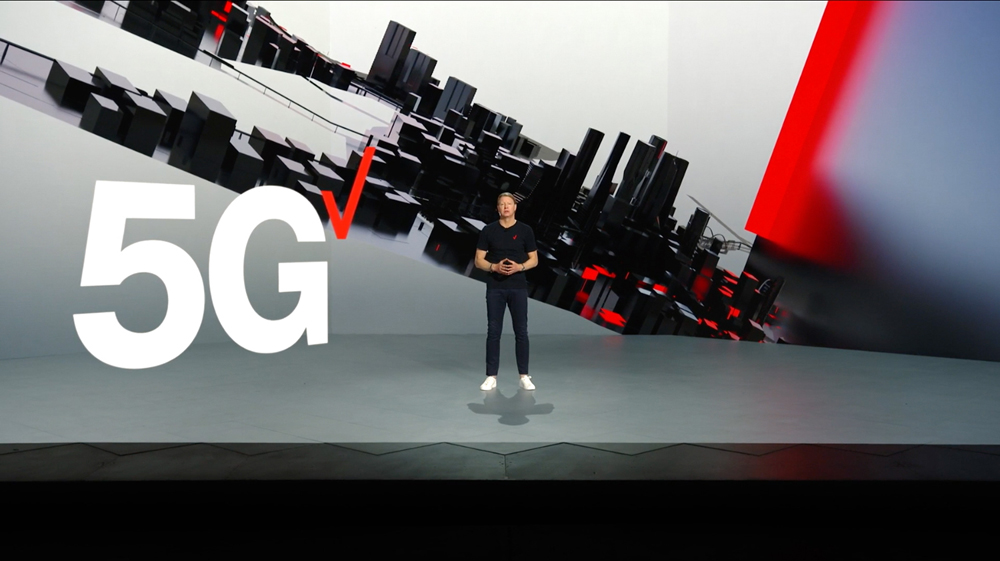 Verizon chairman Hans Vestberg demonstrated the 5G experience © CES 2021