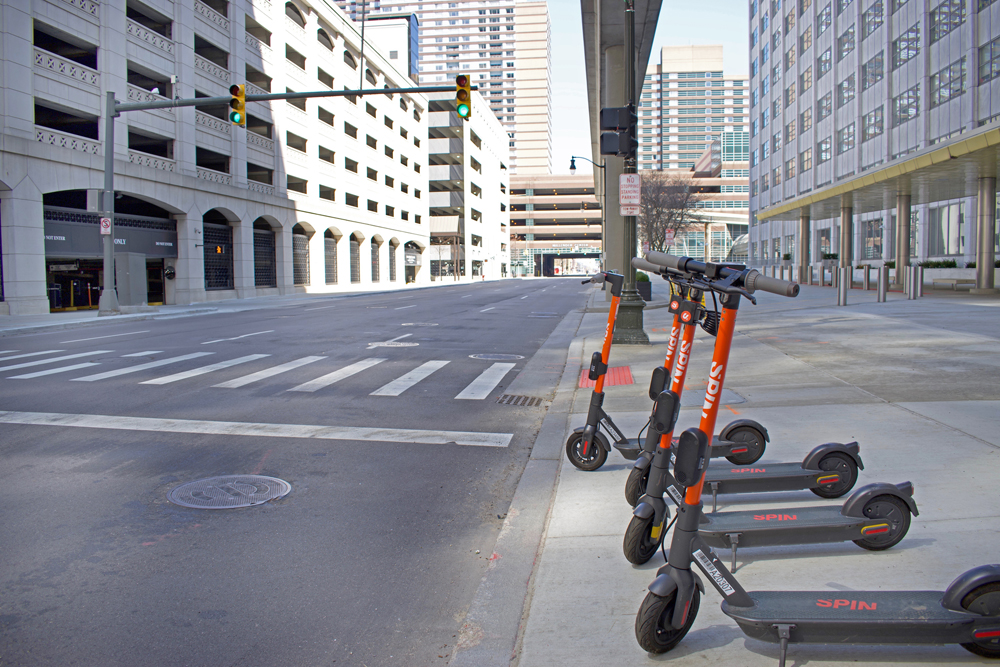 In Detroit, as in many other cities, there is currently far less demand for scooters © Lindaparton | Dreamstime.com