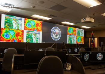 The emergency operations centre in Montgomery County uses Christie Terra to distribute content