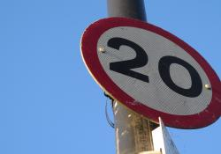 20mph sign - London, UK