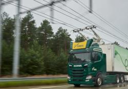 Scania electric road test - courtesy Scania