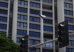A signal device installed at the intersection of Atkinson Drive and Ala Moana Park Drive (Credit: University of Hawaiʻi)