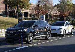 Peachtree Corners says the charger is equipped with an energy storage system for night time charging (Credit: Peachtree Corners)