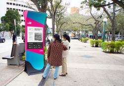 Miami-Dade says Soofa signs can engage users with poll questions relevant to their community (Credit – Soofa)