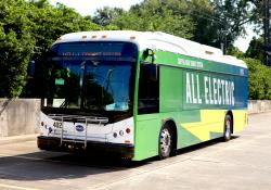 Hitachi says CATS operates a fleet of electric and diesel buses (Credit – CATS)