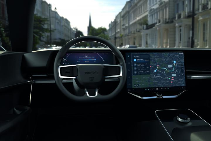 TomTom hybrid navigation routing Amazon electric vehicles